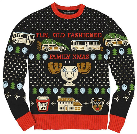 Men's Fun Old Fashioned Family Xmas Ugly Christmas Sweater