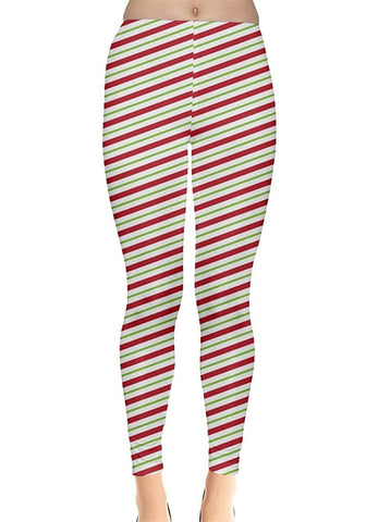 Candy Cane Stripes Christmas Leggings