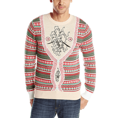 Chest Hair and Nipples Cardigan Ugly Christmas Sweater