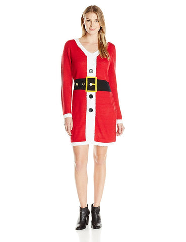 Women's Santa Christmas Sweater Dress