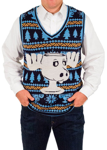 Men's Moose Mug Ugly Sweater Vest