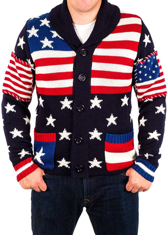 USA Patriotic Christmas Sweater