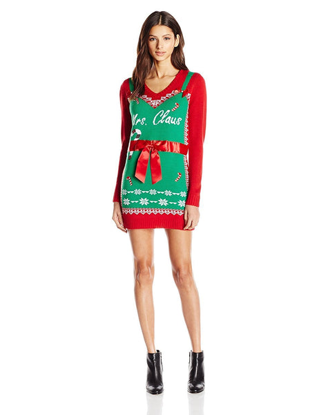 Women's Mrs. Claus with Ribbon Christmas Dress
