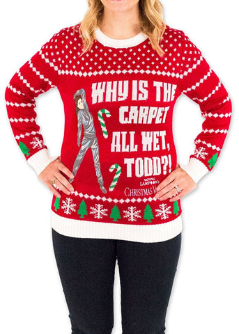 Women's Why is the Carpet Wet Ugly Christmas Sweater