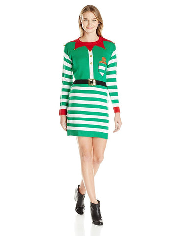 Women's Santa's Little Helper Tunic Dress