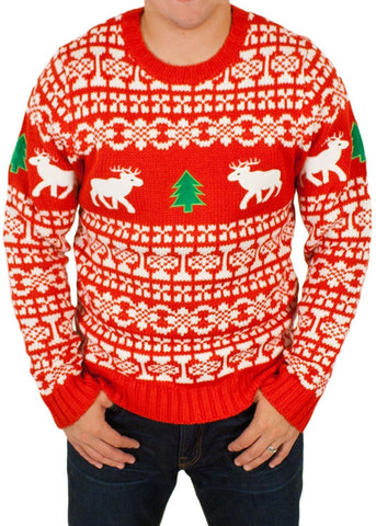 Men's Holiday Reindeers Ugly Christmas Sweater