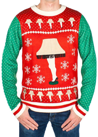 Men's Leg Lamp Ugly Christmas Sweater