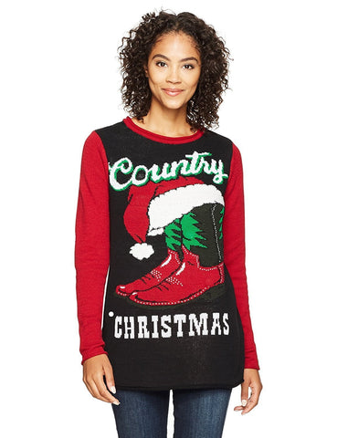 Women's Country Christmas Light Up Sweater