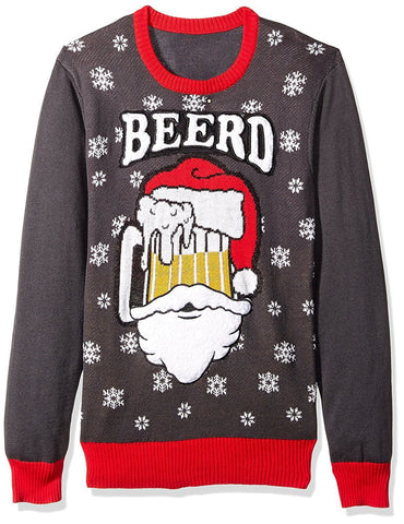 Santa's Beerd Mug Christmas Sweater
