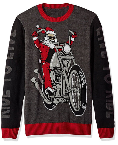 Santa Live to Ride Christmas Sweater