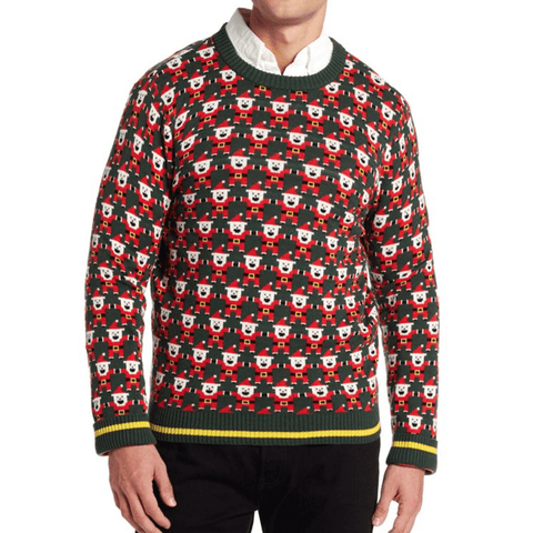 Retro Gamer Pixelated Graphic Santa Sweater