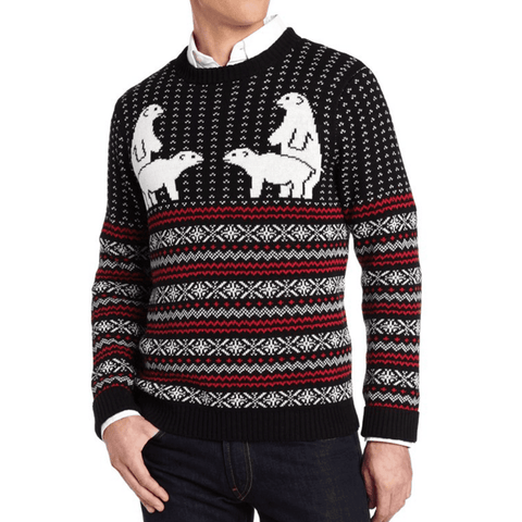 Twinning Polar Bear Fair Isle Sweater