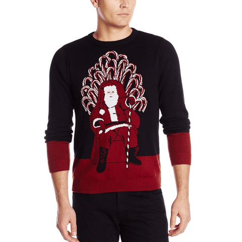 Game of Candy Cane Thrones Santa Sweater