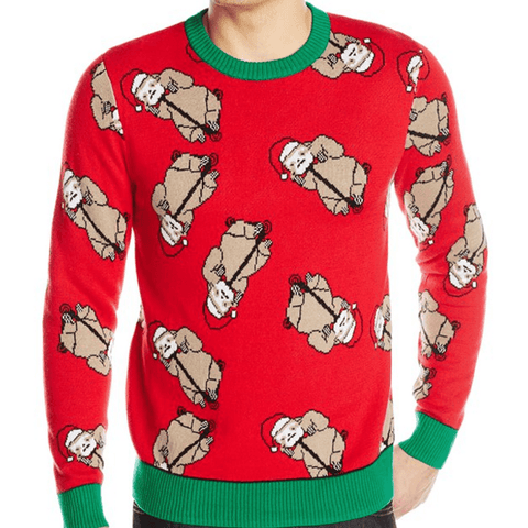 Santa Sloth Scatter Sweater