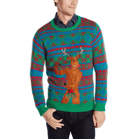 Bachelorette Party Beefcake Reindeer Sweater