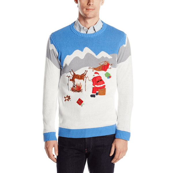 Reindeer Roasting On an Open Fire Sweater