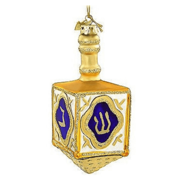 Glass Hanukkah Dreidel Ornament