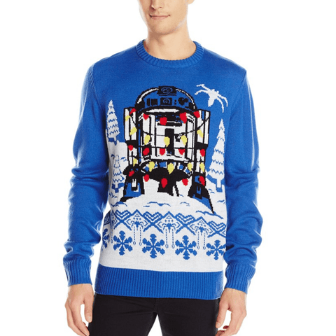 Star Wars Tangled R2D2 UNISEX Ugly Christmas Sweater