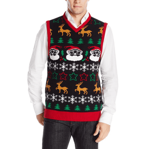 XMAS All Over Vest Ugly Christmas Sweater