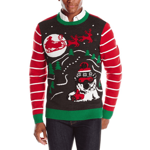Radical Polar Bro Light Up on Ugly Christmas Sweater