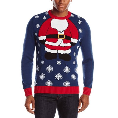 Blinking Santa Ugly Christmas Sweater