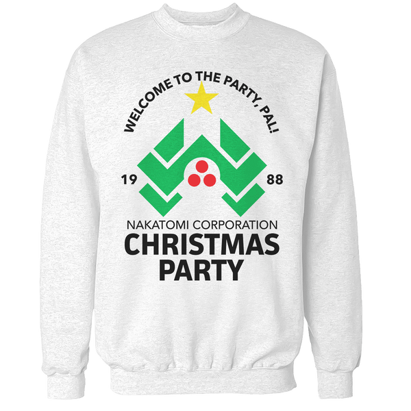 die hard christmas party unisex sweatshirt