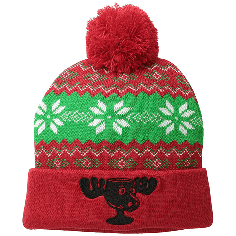 Moose Mug Christmas Vacation Knit Beanie