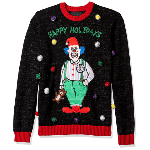 Happy Holidays Scary Clown UNISEX Sweater