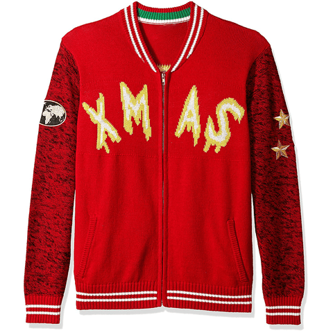 Zip Up Bomber Santa's World Tour UNISEX Sweater