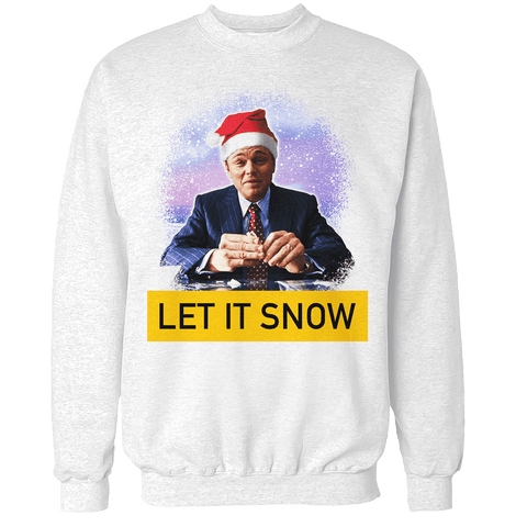 Wall Street Let it Snow V2 Unisex Sweatshirt