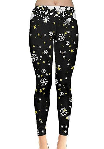 Snowy Dark Christmas Leggings