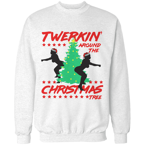 Twerking Around The Christmas Tree Unisex Sweatshirt