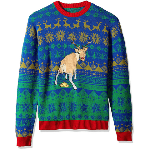 Poopin' Reindeer Ugly Christmas Sweater