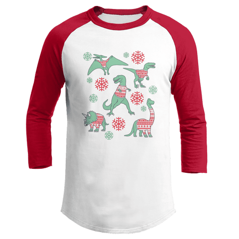 Dinos In Christmas Sweaters