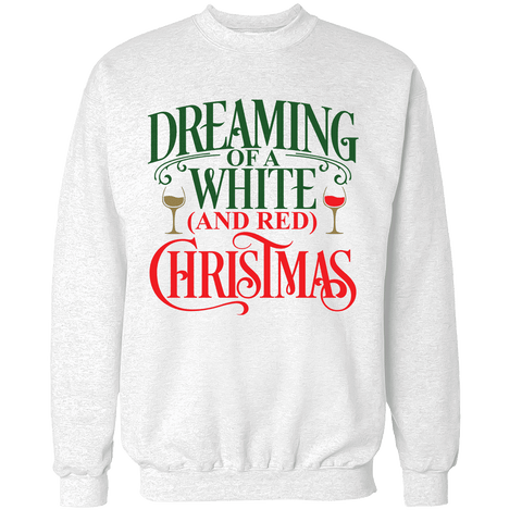 White & Red Christmas Unisex Sweatshirt