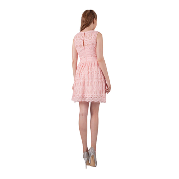 Pretty Lace Dress With Ribbon Trim