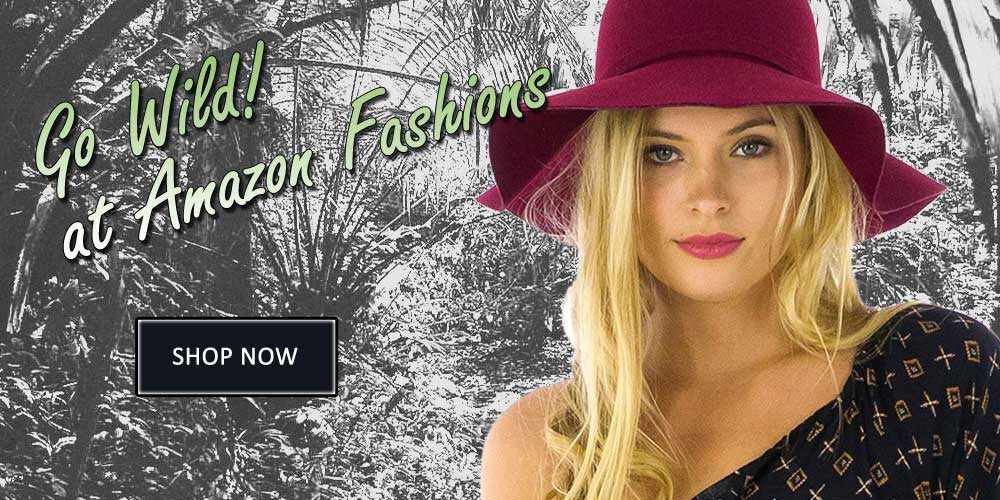 Image of model wearing hat linking to fashion collection