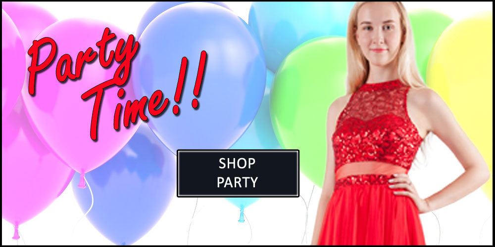 Party dress with balloons