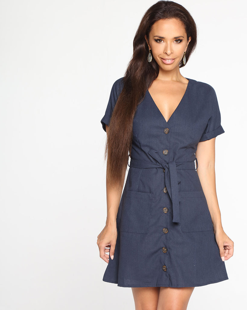 Miz Casa and Co Alice Dress Navy
