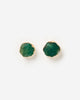 Miz Casa & Co Anenome Stud Earrings Chrysoprase Jade