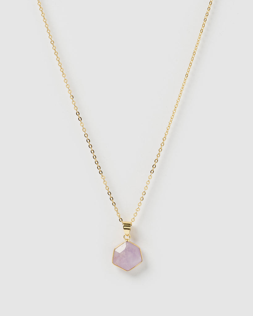 Miz Casa & Co Aurora Necklace Rose Quartz