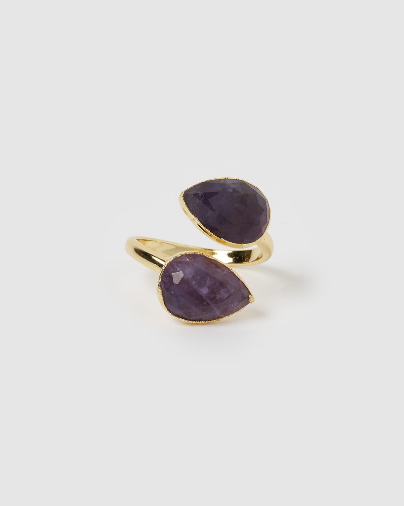 Miz Casa & Co Destiny Ring Gold Amethyst