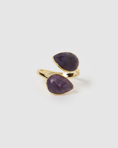 Miz Casa & Co Salt Stud Earrings Angelite