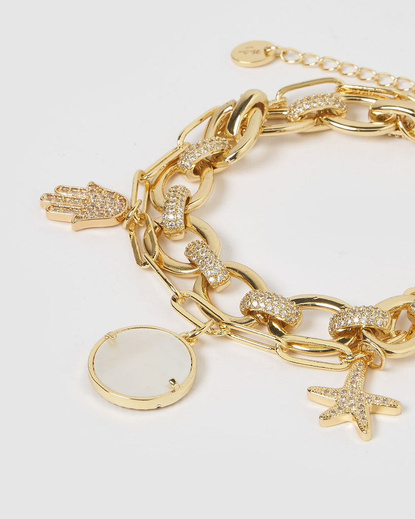Miz Casa & Co Avalon Bracelet Gold