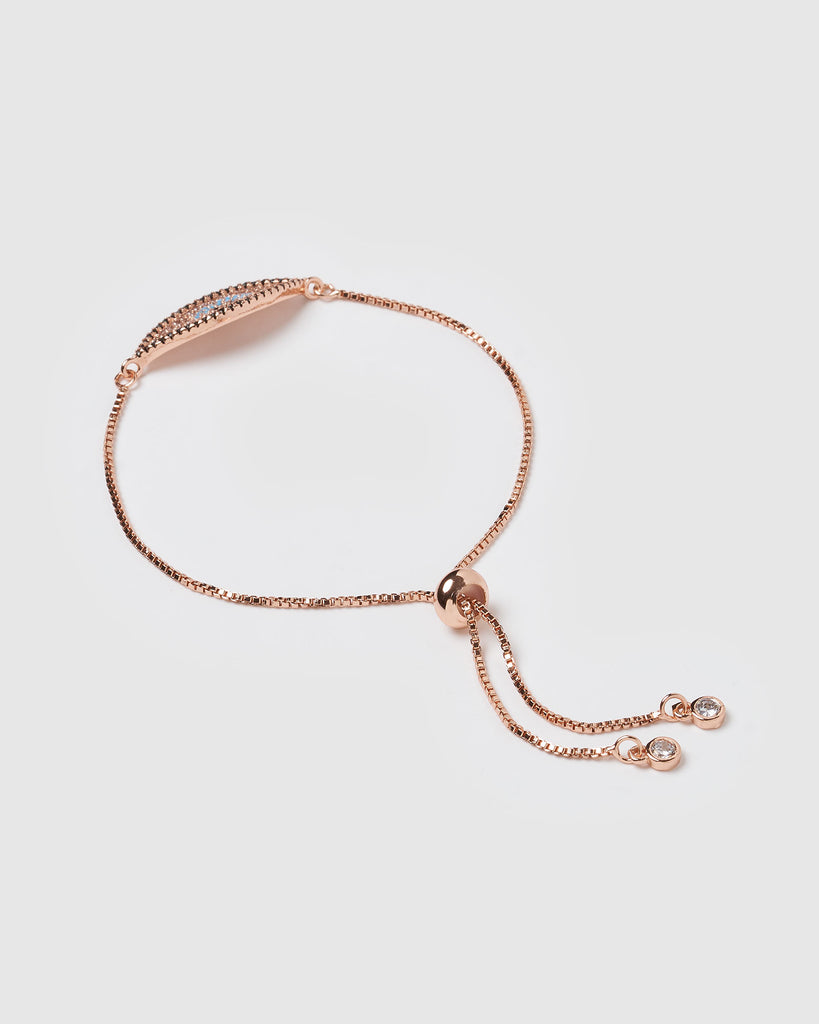 Miz Casa & Co Beholder Eye Bracelet Rose Gold