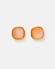 Miz Casa & Co Billows Stud Earrings Rose Quartz Gold
