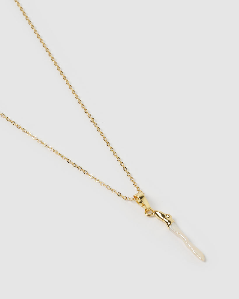 Miz Casa & Co Banu Necklace Gold Freshwater Pearl