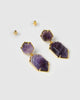 Miz Casa & Co Clementine Earrings Amethyst Gold