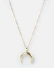 Miz Casa & Co Crescent Necklace Gold