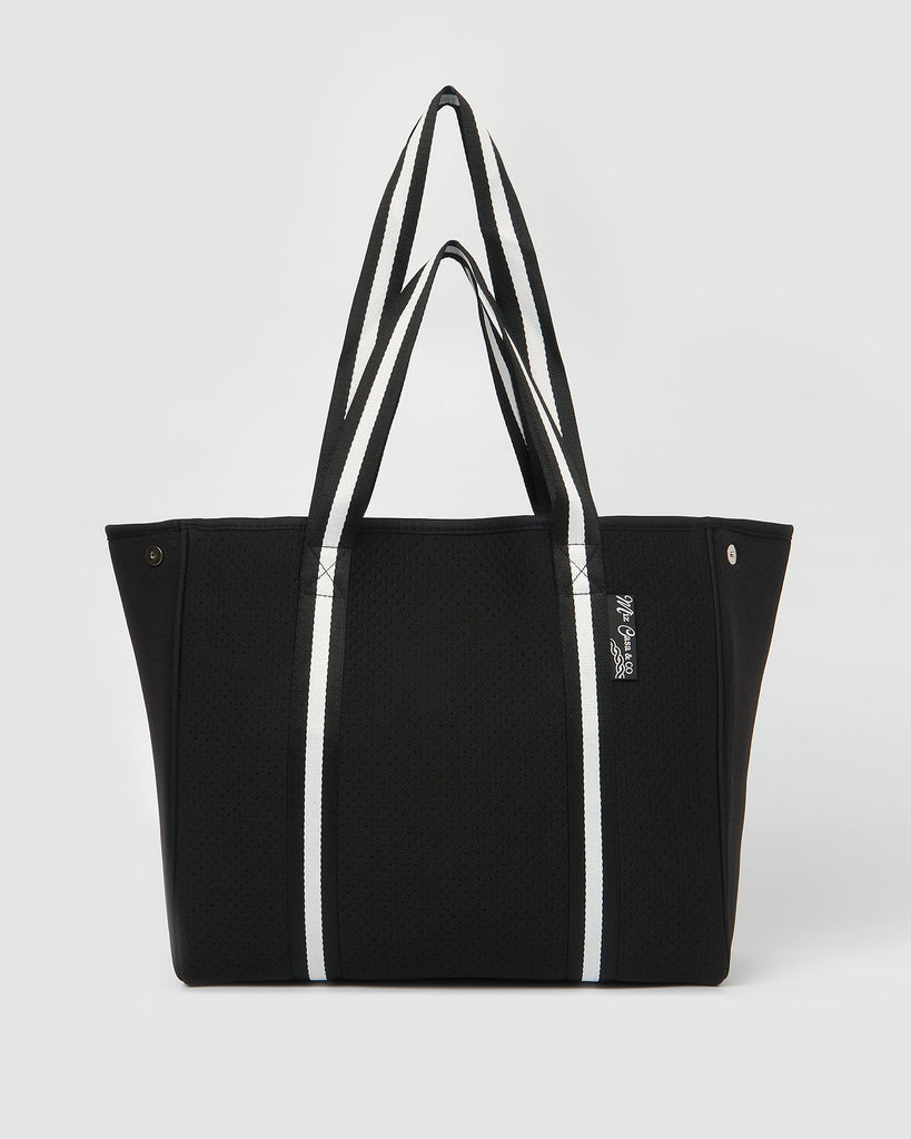 Miz Casa & Co California Neoprene Tote Bag Black